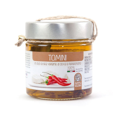Italian Handcrafted Tomino in Extra Vergin Olive Oil and Chili Pickle italyci