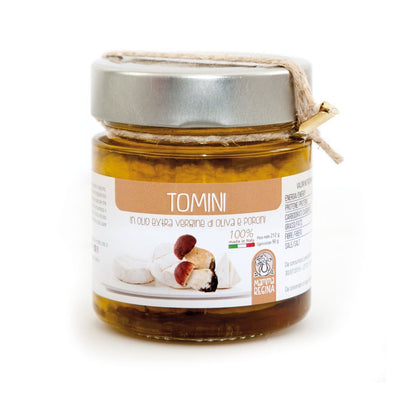 Italian Handcrafted Tomino with Extra Vergin Olive Oil with Mushrooms Pickle italyci
