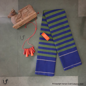 CHETTINAD STRIPES ~ Blue green