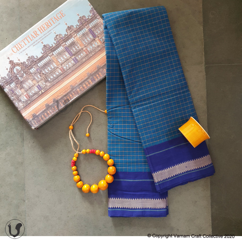 CHETTINAD CHECKS ~ blue