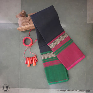 CHETTINAD GANGA JAMUNA ~ Edgy black