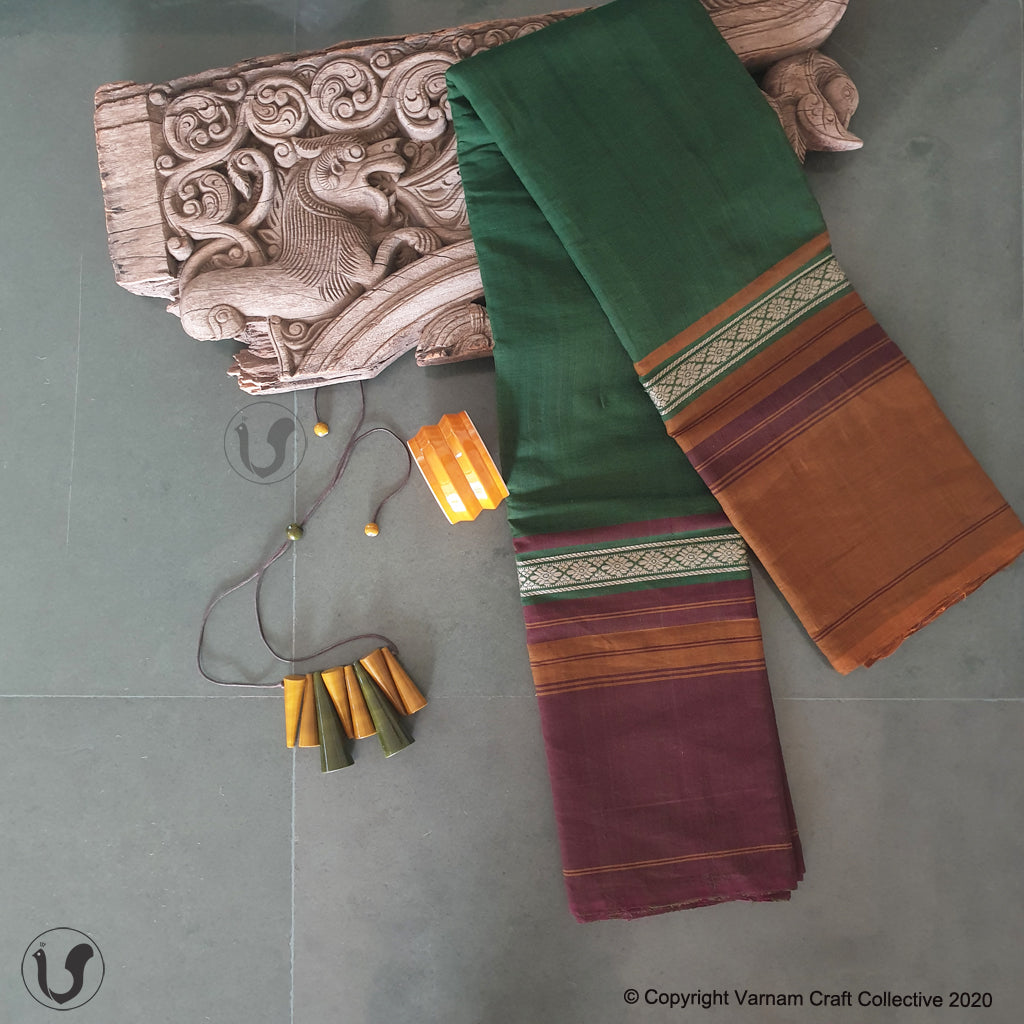 CHETTINAD GANGA JAMUNA ~ Earthy green