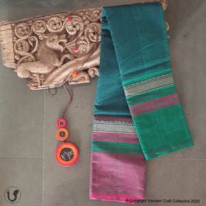 CHETTINAD GANGA JAMUNA ~ peacock blue green mauve