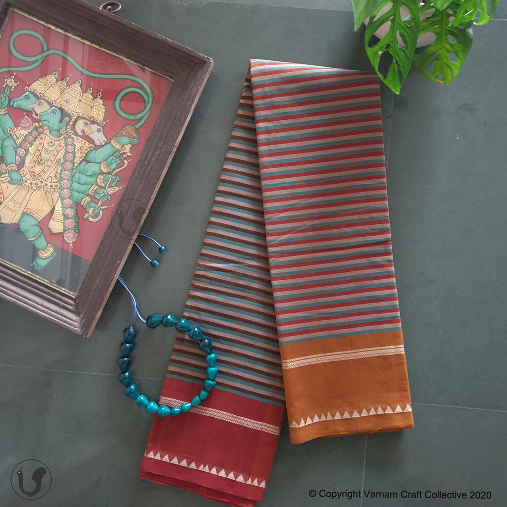 CHETTINAD STRIPES ~ Earthy browns