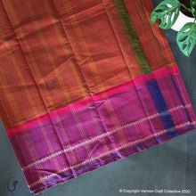 Load image into Gallery viewer, CHETTINAD CHECKS ~ orange fuschia