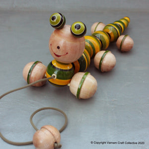WIGGLES the caterpillar pull toy