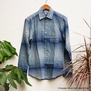 DABU JAALI INDIGO (full sleeves)
