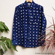 Load image into Gallery viewer, DOTTED DABU INDIGO (full sleeves)
