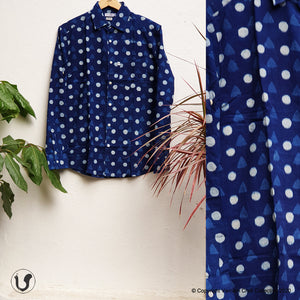 DOTTED DABU INDIGO (full sleeves)