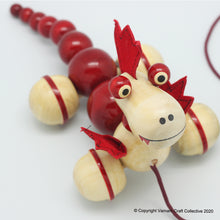 Load image into Gallery viewer, PUFF the magic dragon pull toy