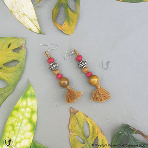 PATWA round olive red earring