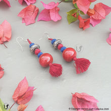 Load image into Gallery viewer, PATWA round red-blue earring