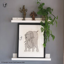 Load image into Gallery viewer, GOND ART - Elephant 1