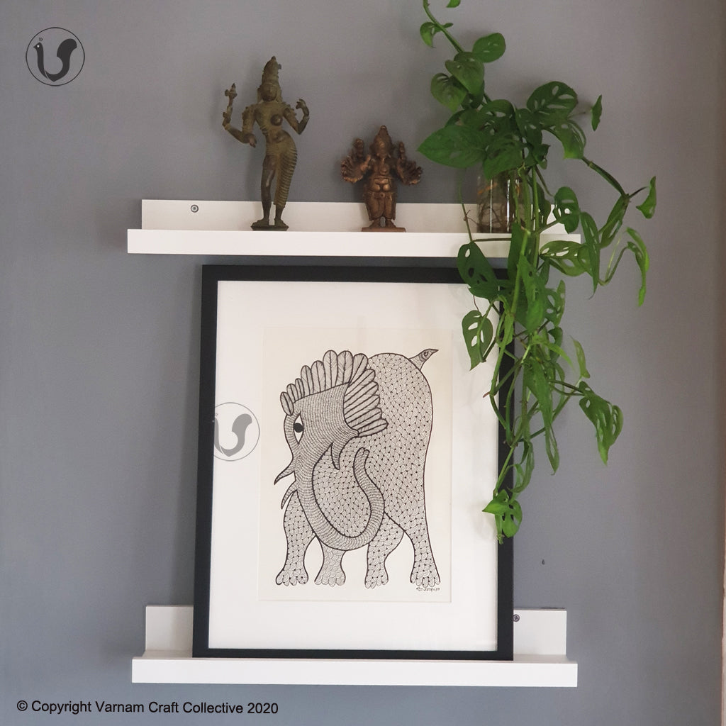 GOND ART - Elephant 1