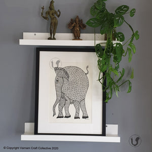 GOND ART ~ Elephant 3