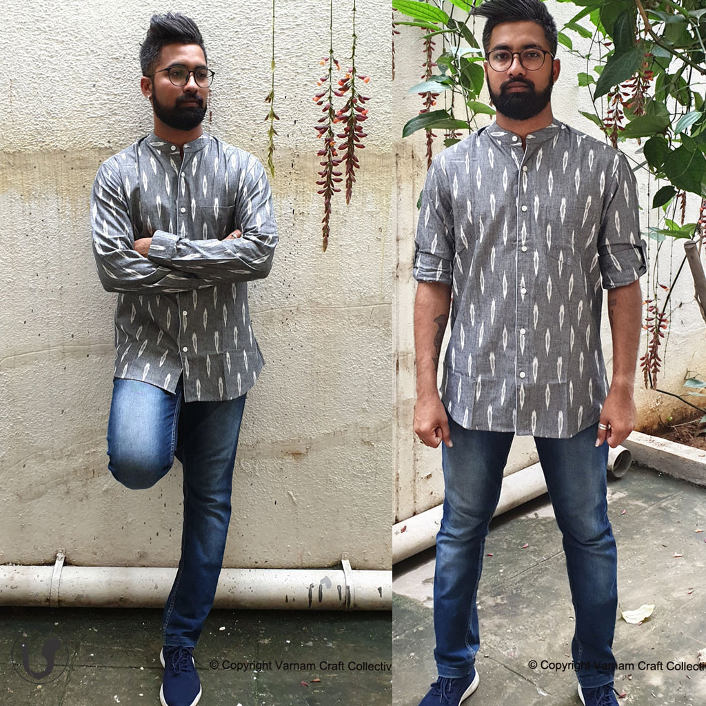 GREY IKAT (full sleeves)