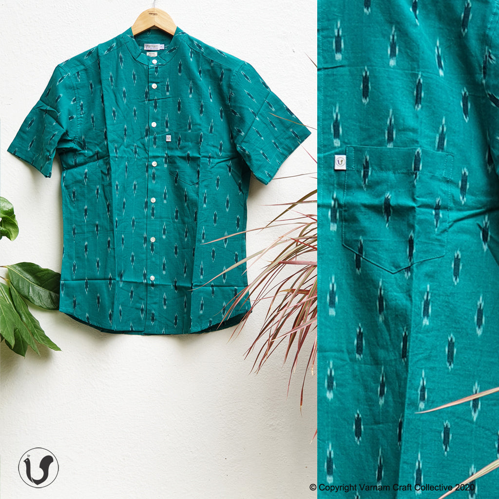 TEAL IKAT (half sleeves)