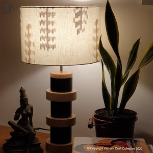 "DOMUS Black ~ 12"" Brown-grey IKAT"