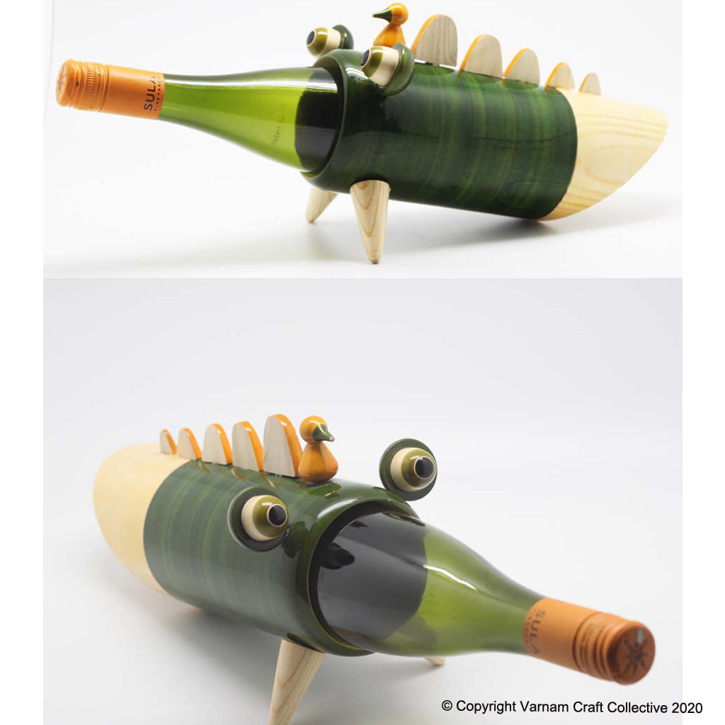 SNAPPY THE CROC wine bottle holder