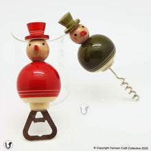 Load image into Gallery viewer, FLAKY SNOWMAN bottle-cork opener set