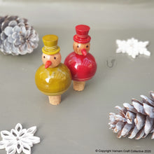 Load image into Gallery viewer, FLAKY SNOWMAN bottle stoppers (a pair)