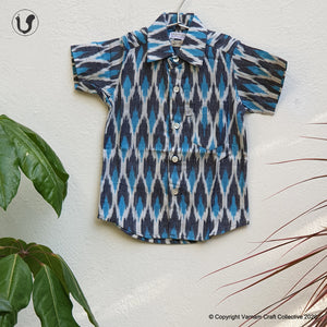 IKAT in turquoise grey (Kids)