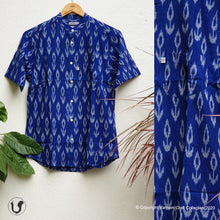 Load image into Gallery viewer, ROYAL BLUE IKAT (half sleeves)
