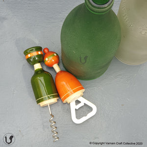 the TOPIWALAS bottle-cork opener set (pair)