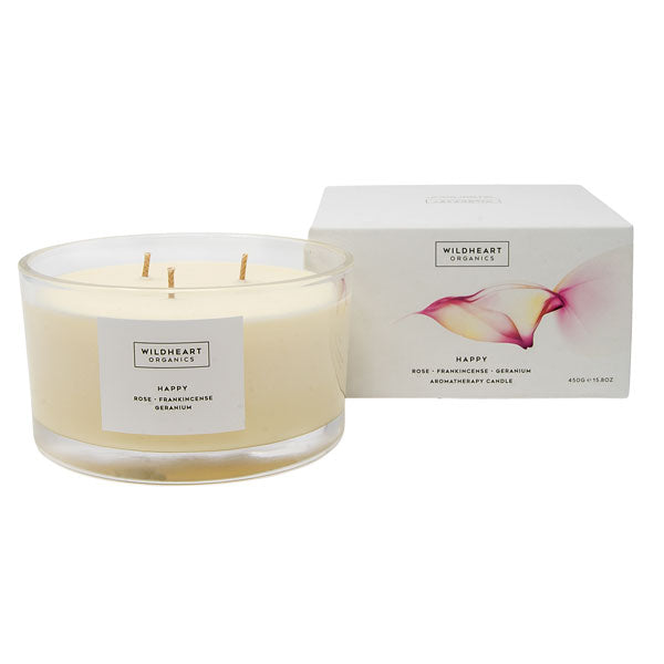 Happy - Spa Triple Candle (450g)
