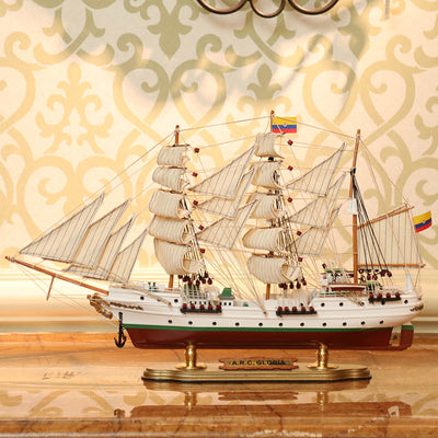 A.R.C. Gloria Sailing Ship Model, 1/124 Scale - WOODLIVE