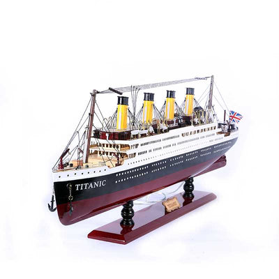 Titanic Passenger Ship Model with Lights, 1/335 Scale - WOODLIVE