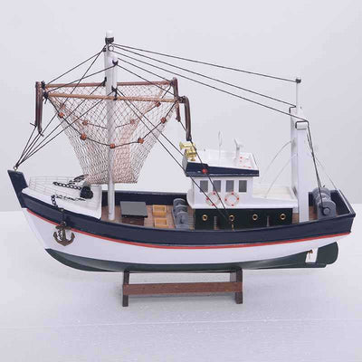 Wooden Handmade Traditional Fishing Boat - WOODLIVE