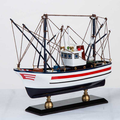 Wooden Handmade Traditional Fishing Boat HQ8722A - WOODLIVE