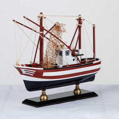 Wooden Handmade Traditional Fishing Boat HQ8722B - WOODLIVE