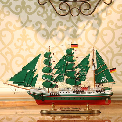 Alexander von Humboldt Sailing Ship Model, 1/125 Scale - WOODLIVE