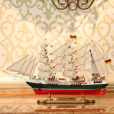 Rickmer Rickmers Sailing Ship Model, 1/235 Scale - WOODLIVE