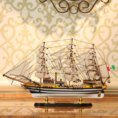 AMERIGO VESPUCCI Sailing Ship Model, 1/194 Scale - WOODLIVE