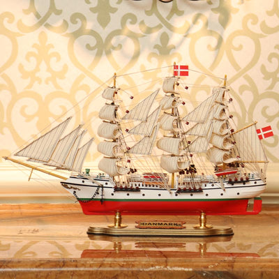 Danmark Sailing Ship Model, 1/148 Scale - WOODLIVE