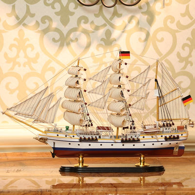 Model sailing ship-GORCH FOCK 1:157 Scale - WOODLIVE