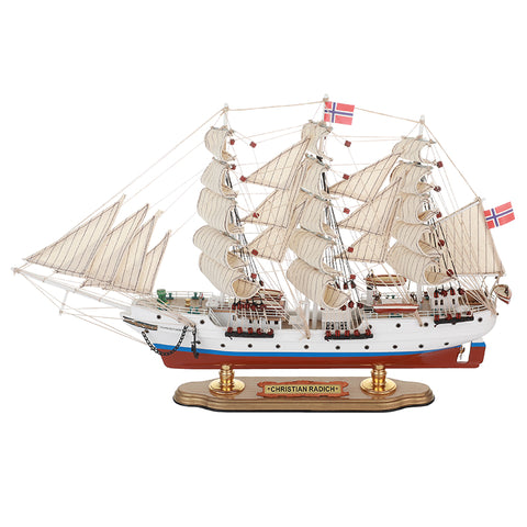 Christian Radich Sailing Ship Model, 1/120 Scale - WOODLIVE