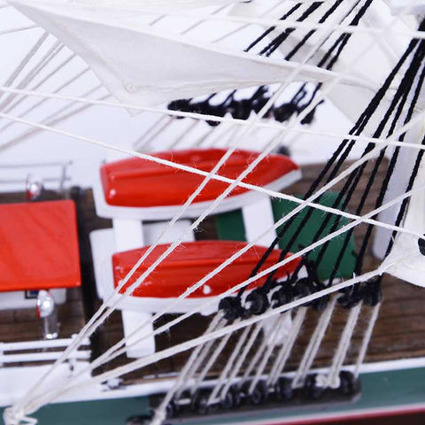 RICKMER RICKMERS Sailing Ship Model, 1/158 Scale - WOODLIVE