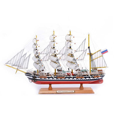 KRUZENSHTERN Sailing Ship Model, 1/208 Scale - WOODLIVE