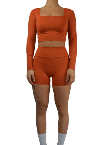 Fenzi swim legging short kort burned orange