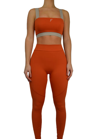 Fenzi swim legging leggings bruned orange