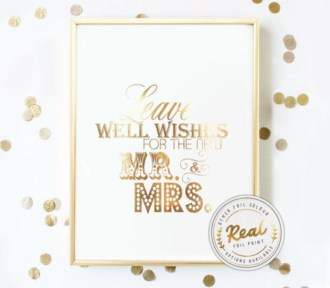 Leave Well Wishes for the Mr and Mrs Foil Print