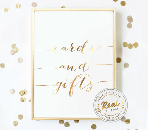 Cards and Gifts Foil Print