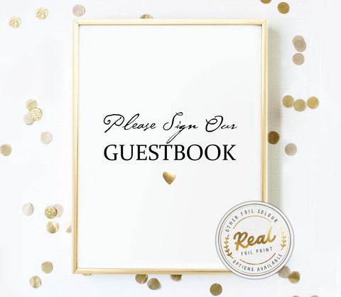 Please Sign Our Guestbook Foil Print