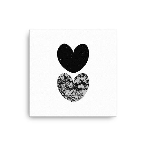 "16X16"" Graphic Hearts Canvas Print"