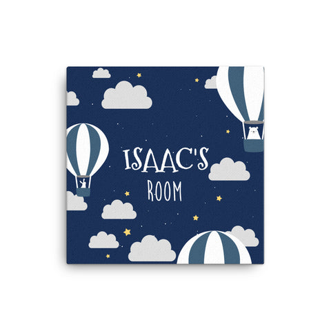 "16X16"" Personalised Navy Air Balloon Canvas Print"
