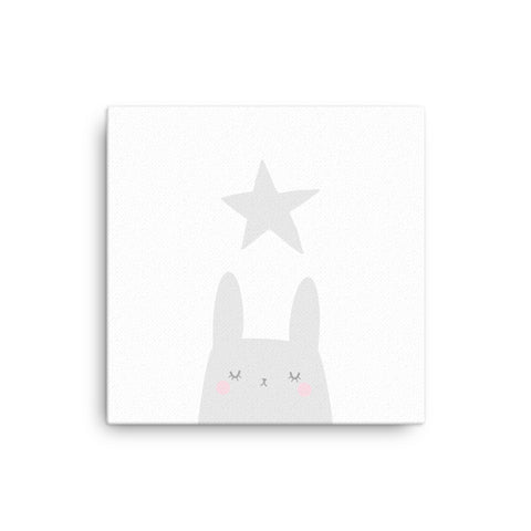 "16X16"" Bunny and Star Canvas Print"